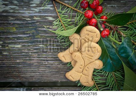 Christmas gingerbread cookies frame