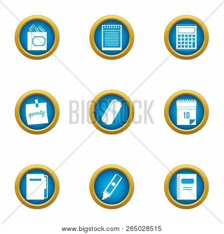 Notation Icons Set. Flat Set Of 9 Notation Vector Icons For Web Isolated On White Background