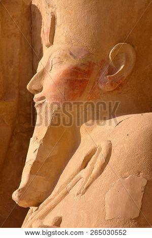 Osiris Statue At Hatshepsut Temple In Luxor, Egypt