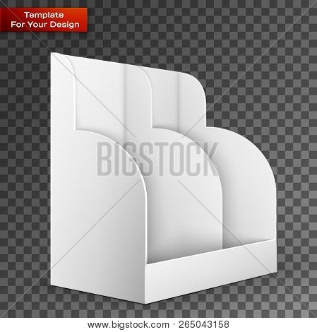 White Pos Poi Cardboard Blank Empty Show Box