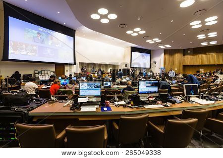 New York, Usa - Sep 20, 2016: Press Center Of 71st Session Of The United Nations General Assembly In