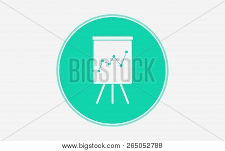 Flipchart With Marketing Data Icon. Simple Illustration Of Flipchart With Marketing Data Vector Icon