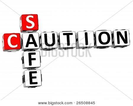 3D Caution Safe Crossword