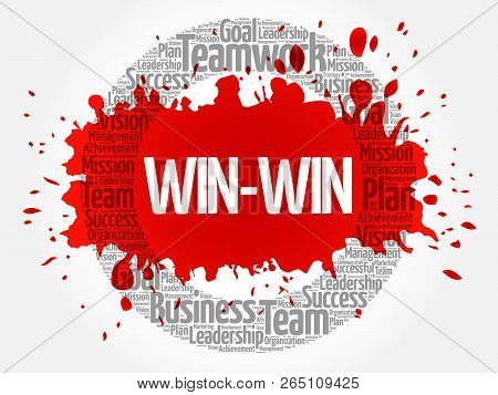 Win-win - Winning Solution Word Cloud, Business Concept