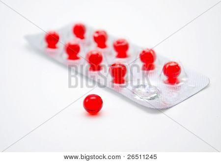 Round Red Pill