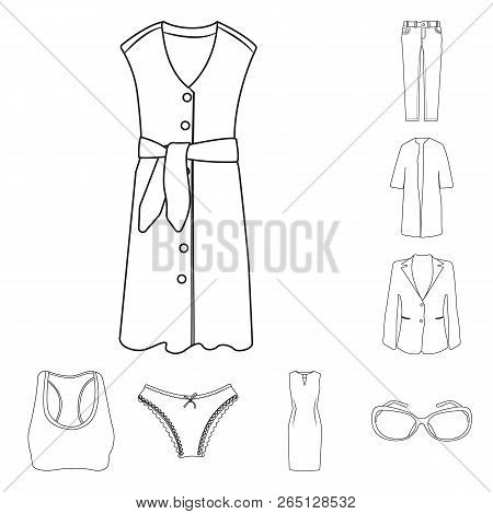 Isolated Object Of Woman And Clothing Icon. Collection Of Woman And Wear Stock Symbol For Web.