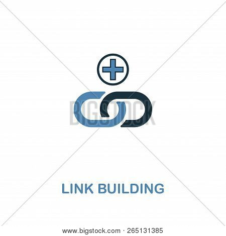Link Building Creative Icon In Two Colors. Premium Style Design From Web Development Icons Collectio