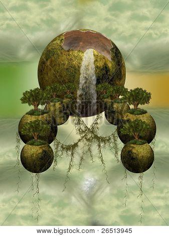 Fantasy Floating Islands
