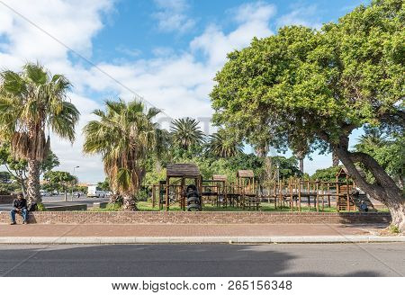 Goodwood, South Africa, August 14, 2018: A Street Scene With A Playpark In Goodwood In The Western C