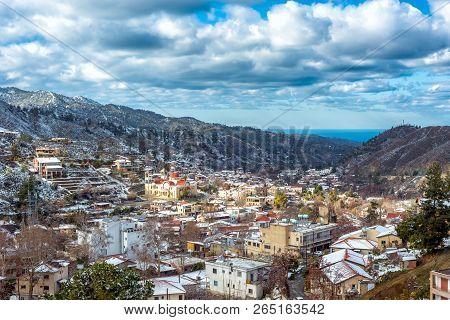 The Village Of Kakopetria On A Bright Winter's Day