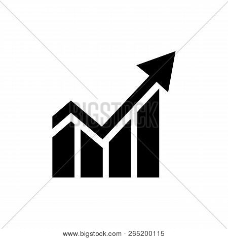 Line Chart Icon Vector In Modern Flat Style For Web, Graphic And Mobile Design. Line Chart Icon Vect