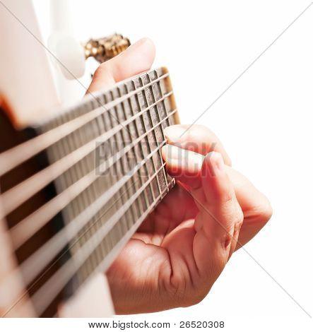 Woman Hand Playing Guitar