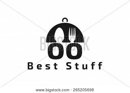 Plate, Spoon, Fork, Letter O O Restaurant Logo Designs Inspiration Isolated On White Background