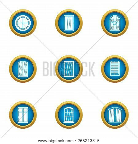 Viewport Icons Set. Flat Set Of 9 Viewport Vector Icons For Web Isolated On White Background