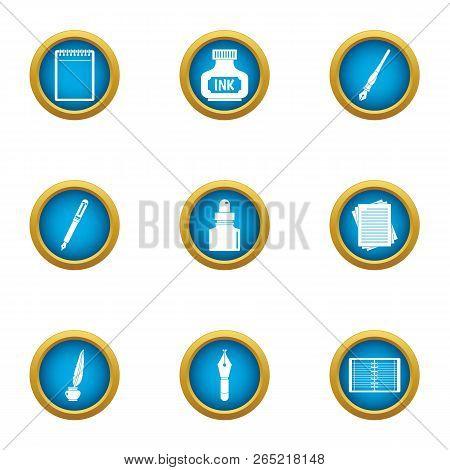 Mascara Icons Set. Flat Set Of 9 Mascara Vector Icons For Web Isolated On White Background