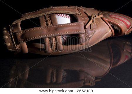 Baseball Glove And Reflection