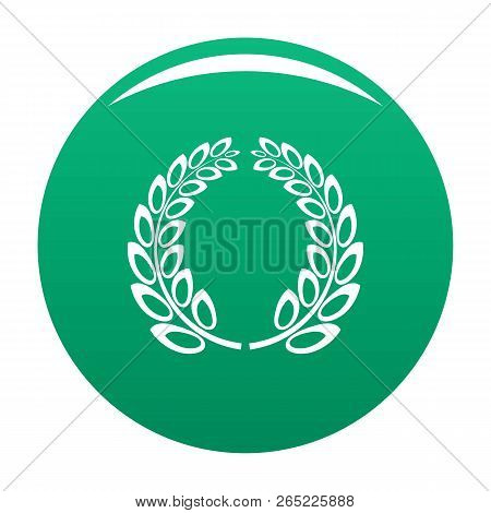 Trophy Wreath Icon. Simple Illustration Of Trophy Wreath Vector Icon For Any Design Green