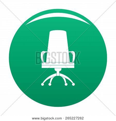 Director Chair Icon. Simple Illustration Of Director Chair Vector Icon For Any Design Green