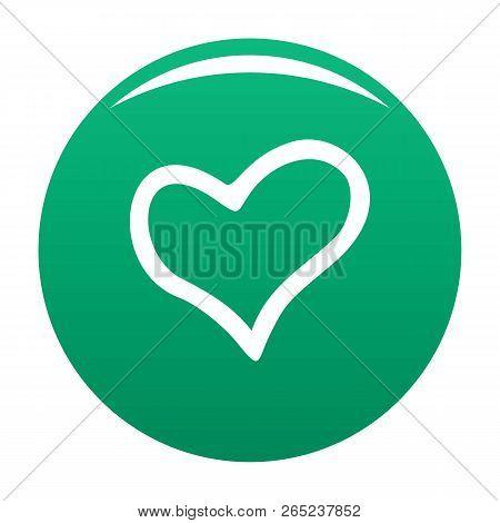 Faithful Heart Icon. Simple Illustration Of Faithful Heart Vector Icon For Any Design Green