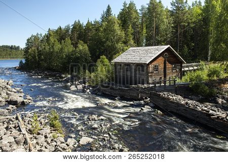 Havero, Sweden On July 06. View Of An Outdoor Museum By The Havero Rapids On July 06, 2018 In Havero