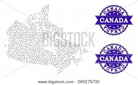 Small Map Of Canada.Dotted Black Map Vector Photo Free Trial Bigstock