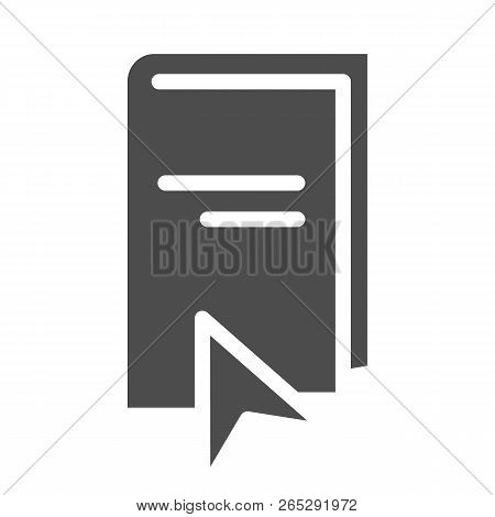 Ebook Solid Icon. Elearning Vector Illustration Isolated On White. Electronic Book And Cursor Glyph