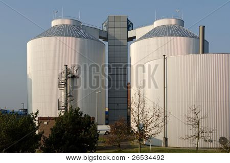 Silos of an industrial plant