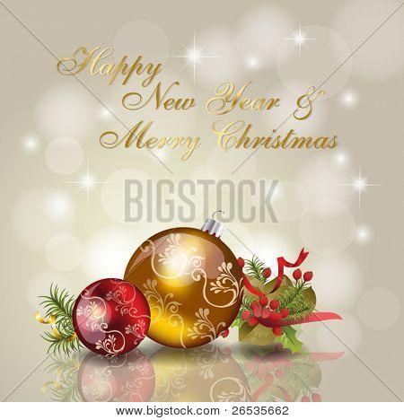 Christmas & new year celebration background