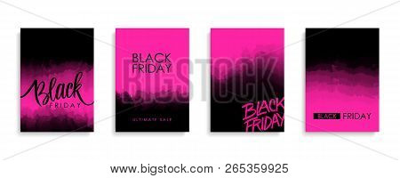Black Friday Sale Promotional Flyers Or Covers Set For Black Friday Shopping, Business, Commerce, Pr