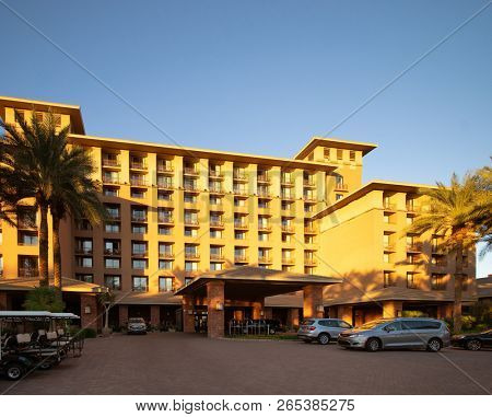Scottsdale, Az/ USA - Westin Hotels & Resorts is an American upscale hotel chain owned by Marriott International. The Westin Brand has over 269 hotels in multiple countries across the globe.
