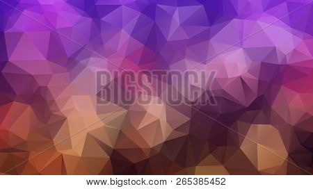 Abstract Geometric Style Brown Background. Autumn-colored Business Background Vector Illustration. R