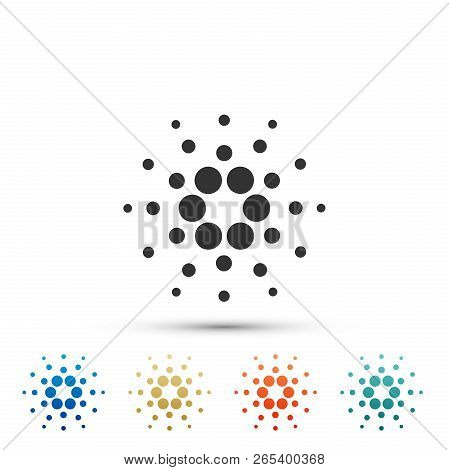 Cryptocurrency Coin Cardano Ada Icon Isolated On White Background. Physical Bit Coin. Digital Curren