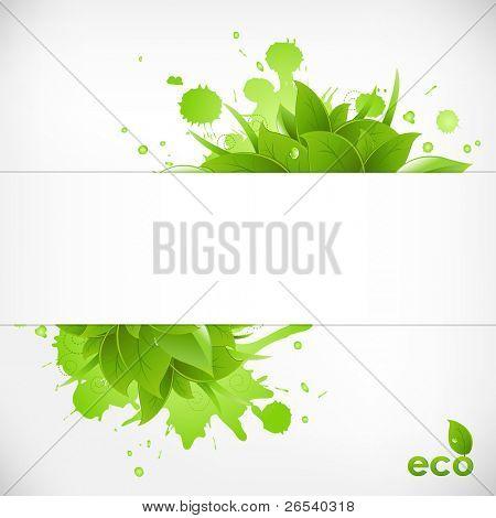 Eco Friendly Background, Vector Illustration
