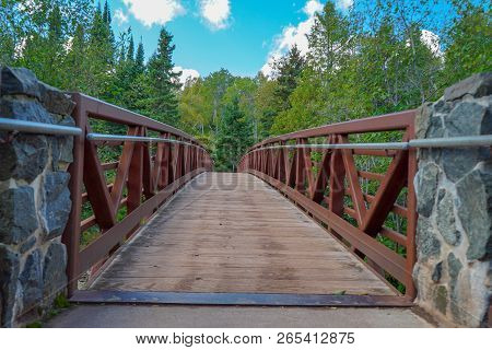 Walking Bridge At Gooseberry Falls State Park