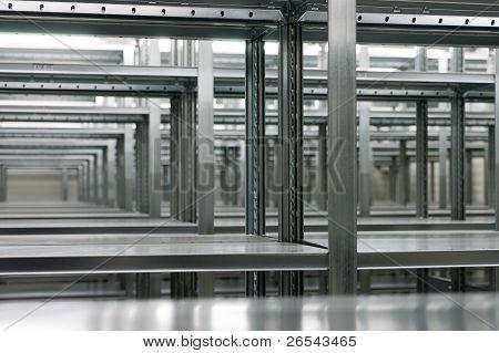 Shelves Of A Rack Lineup