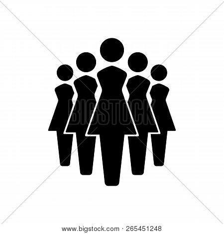 Women Icons Set, Team Icon Group. Vector Illustration Eps10