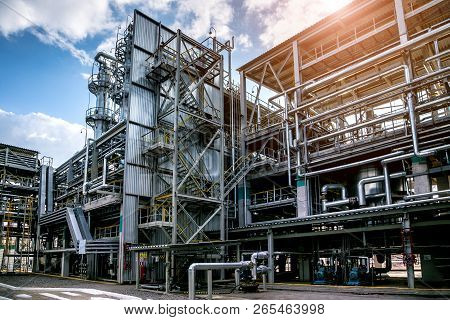 Chemical Factory. Elastomer And Thermoplastic Production Line. Vats For Preparing Monomers And Polym