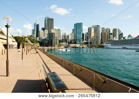 Sydney, Australia - April 4, 2018: Iconic Circular Quay In Sydney Harbor