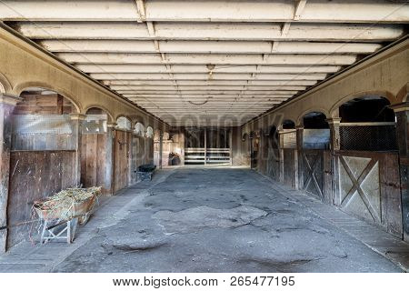 Inside An Historic  Victorian Horse Barn At Wilder Ranch. Wilder Ranch State Park, Santa Cruz, Calif