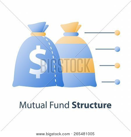 Investment Fund Structure, Asset Diversification, Mutual Fund Concept, Financial Solution, Stock Mar