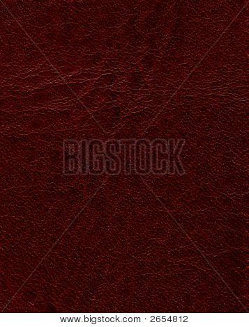 Dark Red Textured Leather