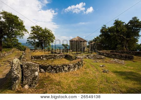 Archaeological ruins of Citania de Briteiros in Guimaraes Portugal. European Capital of Culture 2012