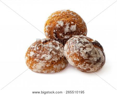 The Honey Cakes Isolated On White Background