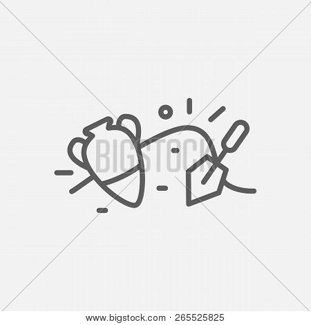 Archaeology Icon Line Symbol. Isolated Vector Illustration Of  Icon Sign Concept For Your Web Site M