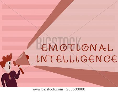 Conceptual Hand Writing Showing Emotional Intelligence. Business Photo Showcasing Self And Social Aw