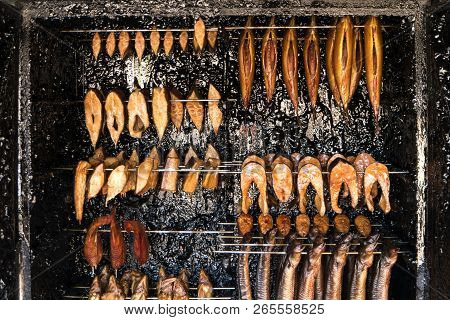 Fish Smokery On Fischland In Germany