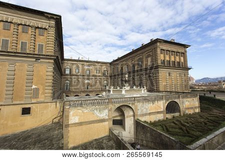 Firenze, Italy - February 04, 2018: Boboli Garden And Palace In Florence