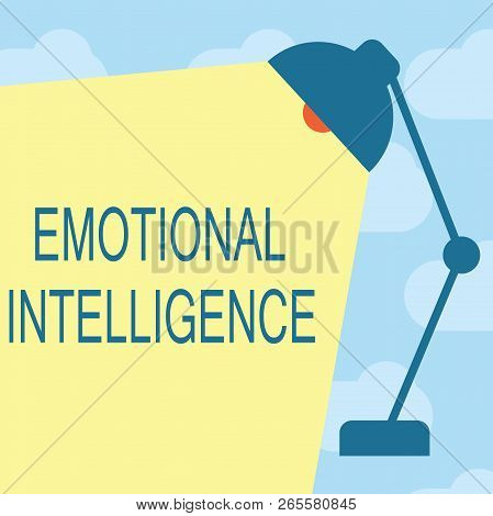 Text Sign Showing Emotional Intelligence. Conceptual Photo Self And Social Awareness Handle Relation