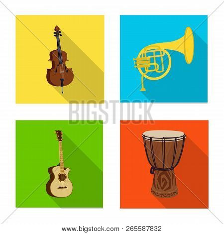 Vector Illustration Of Music And Tune Symbol. Collection Of Music And Tool Stock Vector Illustration