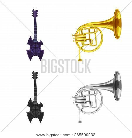 Vector Illustration Of Music And Tune Icon. Collection Of Music And Tool Stock Symbol For Web.